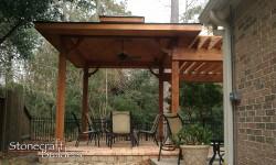 Wood Arbor Pergola in Houston