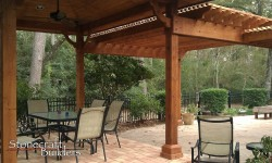 Custom Wood Pergola in Houston